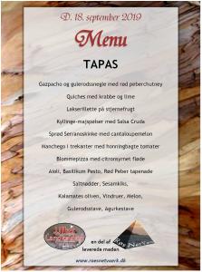 Eksempel på tapas menu